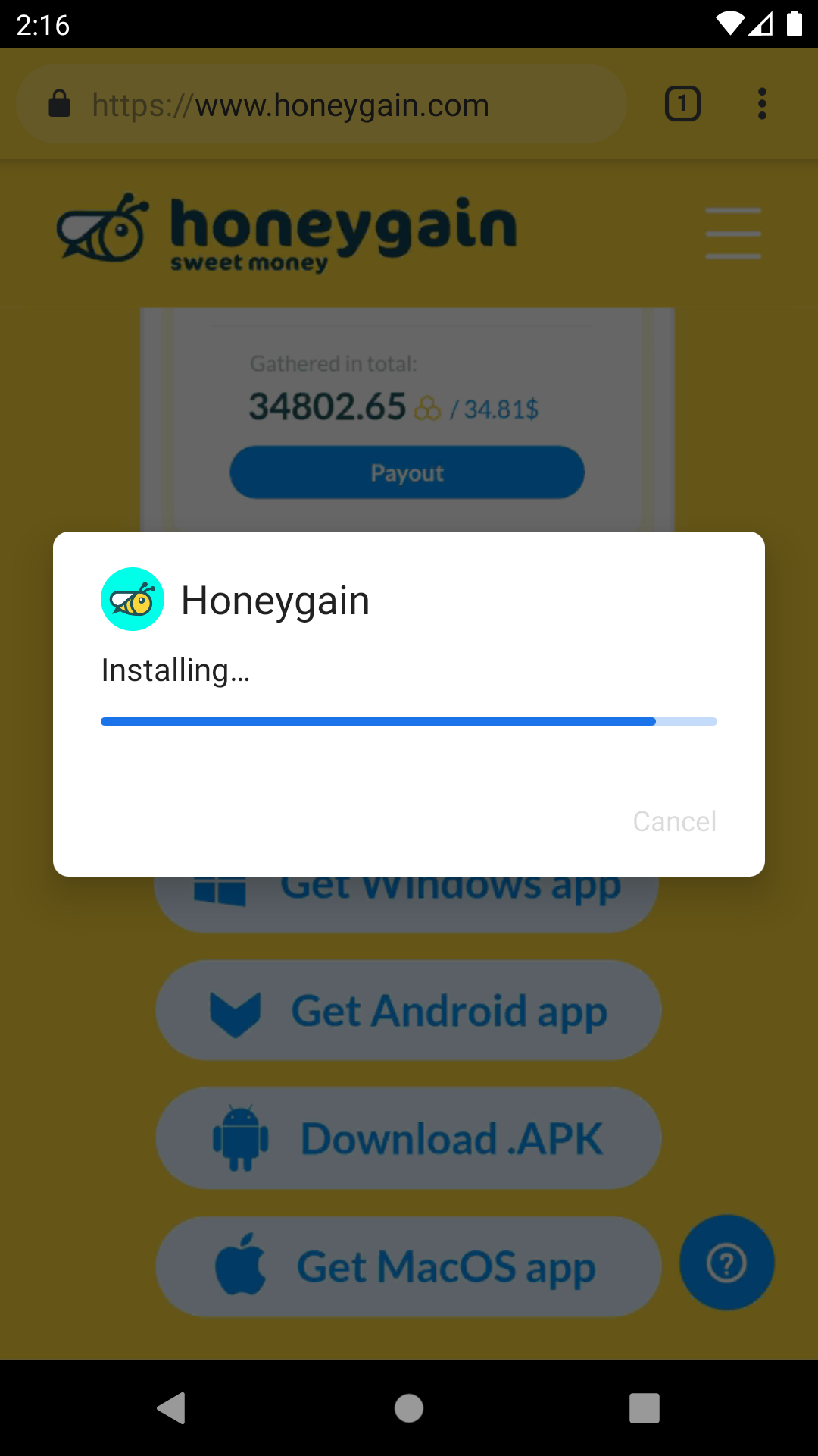 赚美金项目有哪些?推荐Honeygain小蜜蜂挂机赚美金,附详细教程!  赚美金项目 Honeygain 小蜜蜂 挂机赚美金 详细教程 第20张