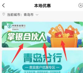 农业银行,掌银合伙人活动,支付0.01元领10元京东卡,秒到账!